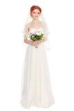 Charming bride in wedding dress Stock Photo