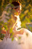 Charming brides profile Royalty Free Stock Images