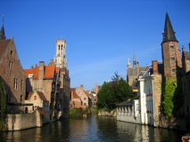Charming Bruges Canal Stock Photo