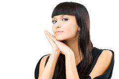 Charming brunette Royalty Free Stock Photos