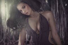 Charming brunette woman with brilliant body Royalty Free Stock Image