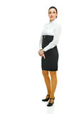 Charming business lady. In full height on white Stock Images