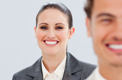 Charming business people smiling Stock Images