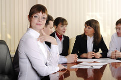 Charming business woman Stock Photos