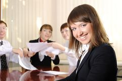Charming business woman Stock Images