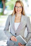 Charming business worker Stock Images