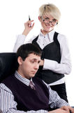 Charming the businessman with the colleague Stock Image