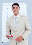 Charming businessman giving a presentation Royalty Free Stock Photography