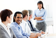 Charming businessman in a meeting Royalty Free Stock Images