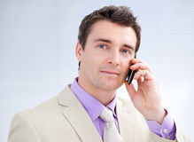 Charming businessman talking on phone Stock Photo