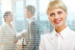 Charming businesswoman Royalty Free Stock Images