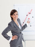 Charming businesswoman giving a conference Royalty Free Stock Photos