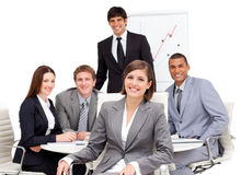 Charming businesswoman sitting in a meeting Royalty Free Stock Image