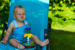 Charming caucasian baby boy Stock Image