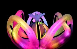Charming changable colored Led Lighted Inflatable party Decoration. Close view stock photo