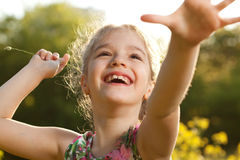 Charming cheerful girl Royalty Free Stock Image