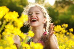 Charming cheerful girl Stock Photos