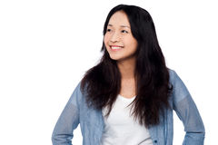 Charming chinese girl, casual portrait Stock Image