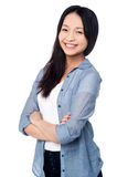 Charming chinese girl, casual portrait Royalty Free Stock Photo