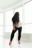 Charming classy woman performing a dance routine Royalty Free Stock Photo