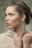 Charming close-up of brunette woman Royalty Free Stock Image