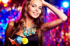 Charming clubber Royalty Free Stock Photography