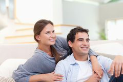 Charming couple hugging Stock Photo