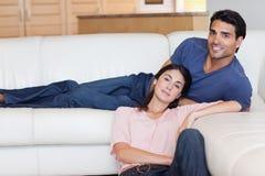 Charming couple posing Royalty Free Stock Photos