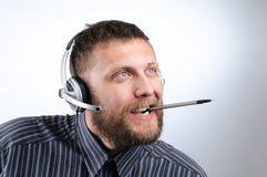 Charming Customer service agent Stock Image