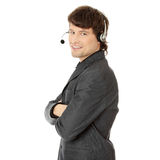 Charming customer service representative Stock Photography