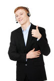 Charming customer service representative Royalty Free Stock Image