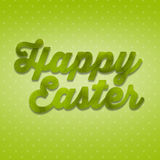 Charming 3D hand inscription Happy Easter from grass. 3D inscription Happy Easter, beautiful fresh supplement, spring greeting, font created from grass, eco stock photography