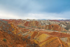 Charming Danxia landform Royalty Free Stock Images