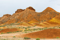 Charming Danxia landform Royalty Free Stock Photo