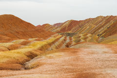 Charming Danxia landform Royalty Free Stock Photography
