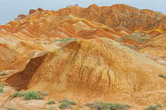 Charming Danxia landform Stock Images