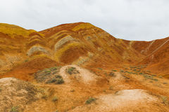 Charming Danxia landform Stock Photo