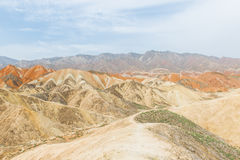 Charming Danxia landform Stock Photos
