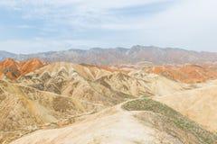 Charming Danxia landform Stock Photos