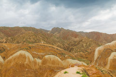 Charming Danxia landform. East Asia Chinese, Gansu Province, Danxia landform, rich colors, unique shape, was named a world heritage royalty free stock photography