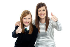 Charming daughter with her mother Royalty Free Stock Photography