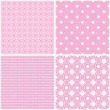 Charming different vector seamless patterns. Vector set Stock Images
