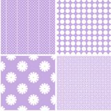 Charming different vector seamless patterns. Vector set royalty free illustration