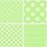 Charming different vector seamless patterns. Vector set stock illustration