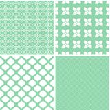 Charming different vector seamless patterns. Vector set Royalty Free Stock Photography