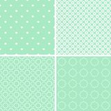 Charming different vector seamless patterns. Vector set Stock Photos