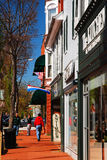 Charming downtown. The town of Fredericksburg, Virginia hosts many charming boutique shops and restaurants serving regional cuisine Stock Photos