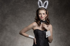 Charming easter playgirl Royalty Free Stock Images