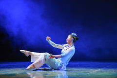 Charming-The emergence of Reiki snake-Chinese classical dance Stock Image