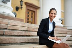 Charming employee Royalty Free Stock Images